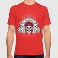 Southern Death Cult Mens Fitted Tee Red SMALL