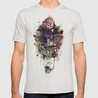 Fauna and Flora Mens Fitted Tee Silver SMALL