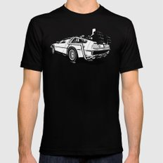 DeLorean / BW MEDIUM Mens Fitted Tee Black