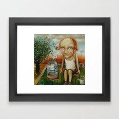 Catcher Of Happiness Framed Art Print