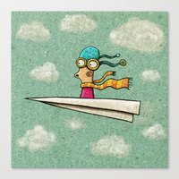 Paperplane2 Canvas Print