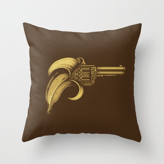Banana Gun Throw Pillow