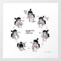 The Never-Ending Circle … Art Print