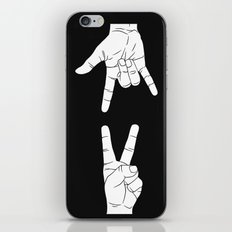 Peace Love and Rock N Roll iPhone & iPod Skin