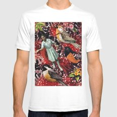 Happy Bird day | Collage Mens Fitted Tee White SMALL