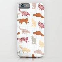 iPhone & iPod Case featuring cats pattern by flying bathtub