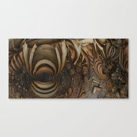 wood-chips Canvas Print