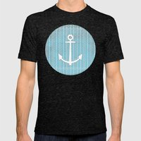 Anchor in Blue Mens Fitted Tee Tri-Black SMALL