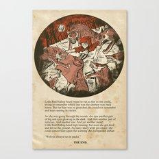 Little Red Riding Hood - Untold Ending Canvas Print