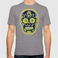 Tres Cráneos Mens Fitted Tee Tri-Grey SMALL