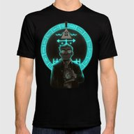 Gravity Falls- Stan Pine… Mens Fitted Tee Black SMALL