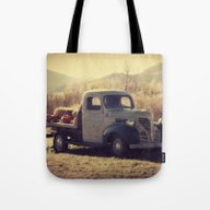 Tote Bag featuring Fall Vintage Truck With … by LJehle Photography