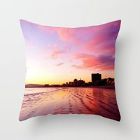 Sherbet Skies Throw Pillow