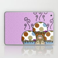 Cute Monster With Blue A… Laptop & iPad Skin