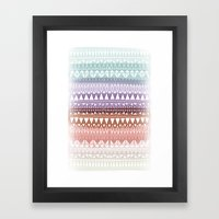 Triangle Gradient Earthy… Framed Art Print