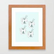 TAKEOUT Framed Art Print