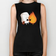 Biker Tank featuring Friendly Fire by Budi Kwan