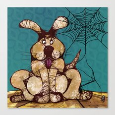 In a game of Catch, the Spider always wins. Canvas Print