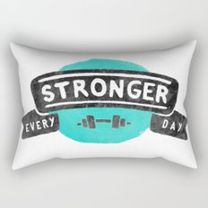 Stronger Every Day (dumbbell) Rectangular Pillow