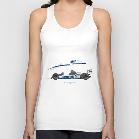 Outline Series N.º6, Nelson Piquet, Brabham BT-52 BMW, 1983 Unisex Tank Top