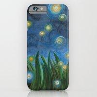 iPhone & iPod Case featuring Fireflies by Kristen Fagan