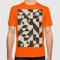color story - B&W Mens Fitted Tee Orange SMALL