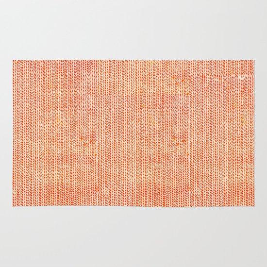 Stockinette Orange Area & Throw Rug