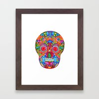 A really colourful skull Framed Art Print