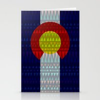 Colorado Flag/Geometric Stationery Cards