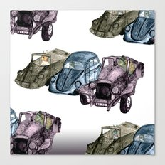 Animals in cars Canvas Print
