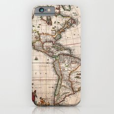 1658 Visscher Map of North America & South America (with 2015 enhancements) Slim Case iPhone 6s