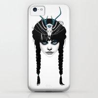 iPhone 5c Cases featuring Wakeful Warrior - In Blue by Ruben Ireland