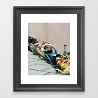 Watering Cans Framed Art Print