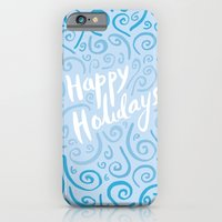 iPhone & iPod Case featuring Happy Holidays by Kinnon Elliott Illustration & Design