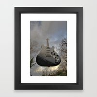 Air Guitar Framed Art Print