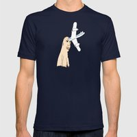 Airplane Head Mens Fitted Tee Navy SMALL