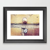Snail Mail Framed Art Print