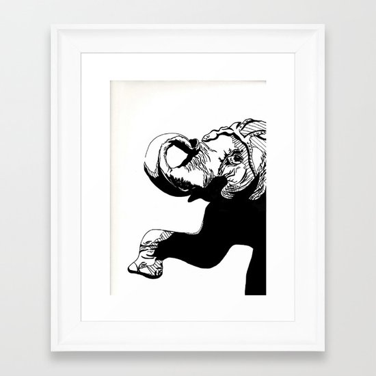 Circus Elephant Framed Art Print