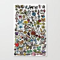 100 Things Canvas Print