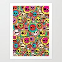Button Skulls Art Print