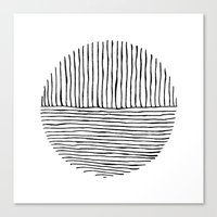 Circle : Vertical / Horizontal Canvas Print