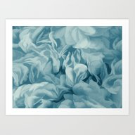 Soft Baby Blue Petal Ruf… Art Print