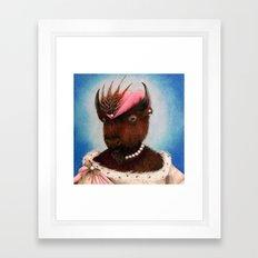Lady Bison Framed Art Print