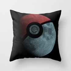 Poke Moon Throw Pillow