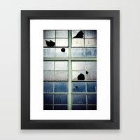 Broken Cross Framed Art Print