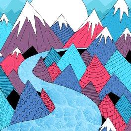 Framed Art Print - Blue Sky River -  Steve Wade ( Swade)