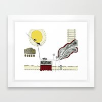 In the night time Framed Art Print