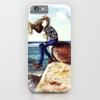 Girl on a stone iPhone 6 Slim Case