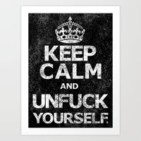 Keep Calm and ..... (w) Art Print