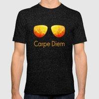 Carpe Diem Mens Fitted Tee Tri-Black SMALL